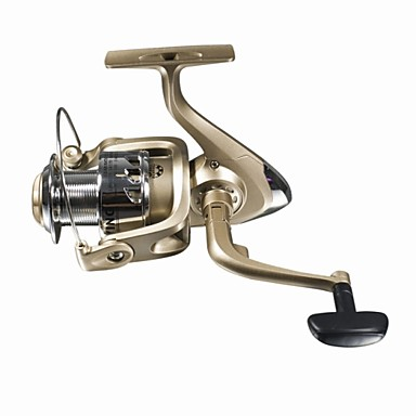 Fishing Reel Spinning Reel 5.1:1 Gear Ratio+5 Ball Bearings Hand Orientation Exchangable Sea Fishing / Fly Fishing / Ice Fishing - HC4000F
