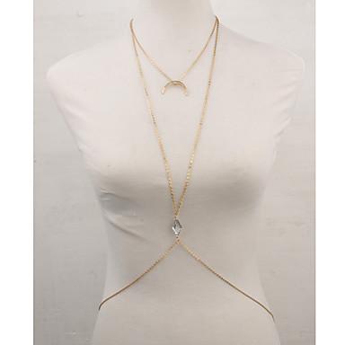 Női Testékszer Body Lánc / Belly Chain Hamis gyémánt Ötvözet Arany Mások Geometric Shape MOON Luxus Egyedi Vintage Bájos Party Alkalmi