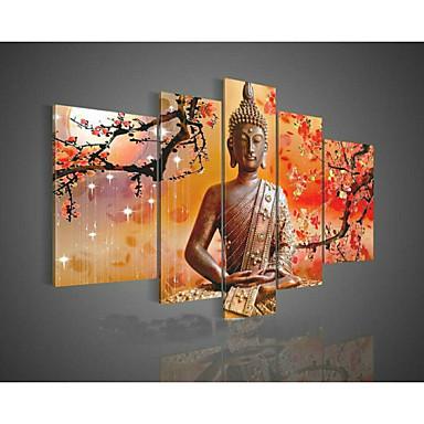 Ręcznie malowane Streszczenie Wszelkie Kształt Pięć paneli Płótno Hang-Malowane obraz olejny For Dekoracja domowa