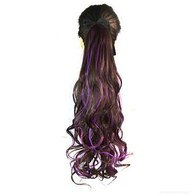 Hairextension med mikroringer Bølget Syntetisk hår Hårdel Hår extension Regnbue