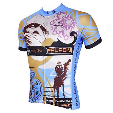 ILPALADINO Miesten Lyhythihainen Pyöräily jersey - Harmaa Pyörä Jersey, Nopea kuivuminen, Ultraviolettisäteilyn kestävä, Hengittävä