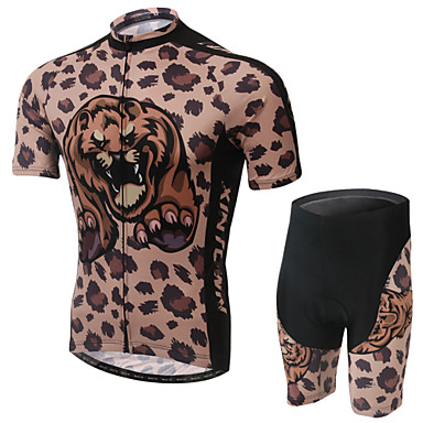 West biking Cycling Jersey with Shorts Women's Short Sleeves Bike Jersey Shorts Clothing Suits Wearable Breathable 3D Pad Back Pocket