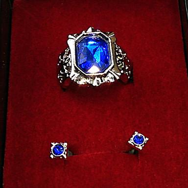 תכשיטים קיבל השראה מ Black Butler Ciel Phantomhive אנימה אביזרי קוספליי עגיל טבעת שרף Chrome