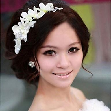 gyanta virágok fejdísz esküvői party elegáns klasszikus női stílusban