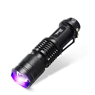 TanLu LED Fenerler / Avuçiçi Fenerleri LED 20 Lümen 1 Kip LED 14500Ayarlanabilir Fokus / Şarj Edilebilir / Ultraviyole Işık / Sahte