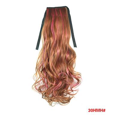 Krop Bølge Syntetisk hår Hårdel Hår extension 18 tommer Regnbue