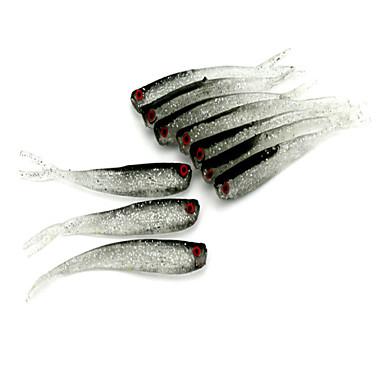 5pcs Fishing Bait Soft Baits / fishing lures Black 3.7g for Lure fishing