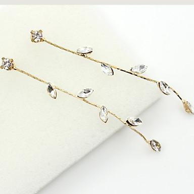 Women's Drop Earrings Crystal Fashion European Rhinestone Gold Plated Austria Crystal 18K gold Imitation Diamond Jewelry