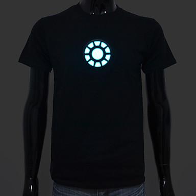 Şarj edilebilir pil ışığı kadar yol dahil el t-shirt demir adam 1 ayarlanabilir ses aktive ve çoklu flaş modları