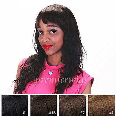Ekte hår Blonde Forside Parykk Brasiliansk hår Løse bølger Parykk 130% Hair Tetthet med baby hår Naturlig hårlinje Afroamerikansk parykk 100 % håndknyttet Dame Kort Medium Lengde Lang Blondeparykker