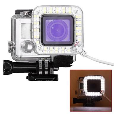 보호케이스 스포트 라이트 LED USB LED 에 대한 액션 카메라 고 프로 6 Gopro 5 Gopro 4 Black Gopro 4 Silver Gopro 4 Gopro 3 Gopro 3+ Gopro 3/2/1 플라스틱