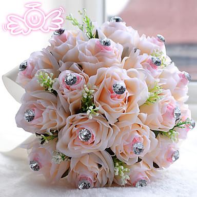 Λουλούδια Γάμου Μπουκέτα Γάμου Χάντρες Πολυεστέρας Σατέν Αφρός 11,8