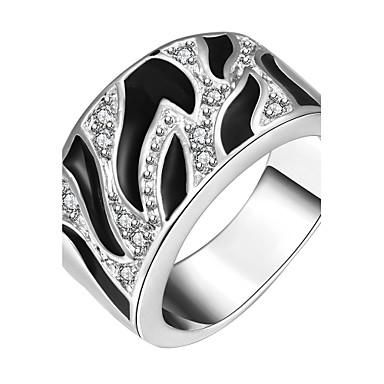 Εντυπωσιακά Δαχτυλίδια Μοντέρνα Ζιρκονίτης Cubic Zirconia Επάργυρο Προσομειωμένο διαμάντι Circle Shape Geometric Shape Κοσμήματα Για Πάρτι