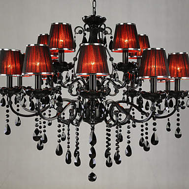 LWD Candle-style Chandelier Ambient Light - Crystal, 110-120V / 220-240V Bulb Not Included / 30-40㎡ / E12 / E14