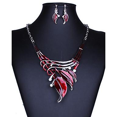 Femme Set de Bijoux Boucles d'oreille goutte Pendentif de collier Mode Bijoux Fantaisie Vintage Européen Pierres synthétiques Cristal