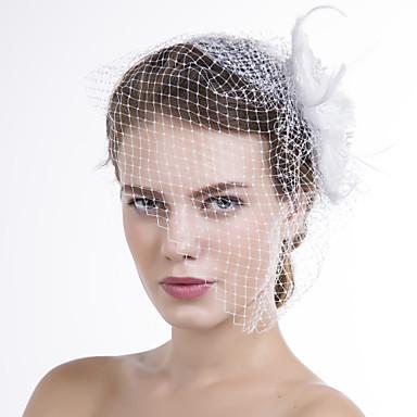 Φτερό Ύφασμα Δίχτυ Βιτρίνα Πτηνών 1 Γάμου Ειδική Περίσταση Causal Headpiece