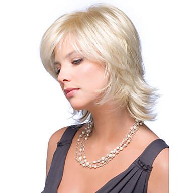 Sentetik Saç peruk Dalgalı Bonesiz Sarışın