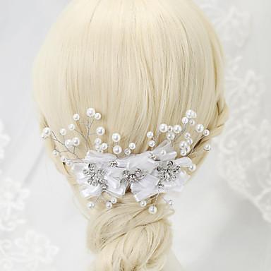 imitação de perol rhinestone alloy cabelo pente cabeça estilo elegante