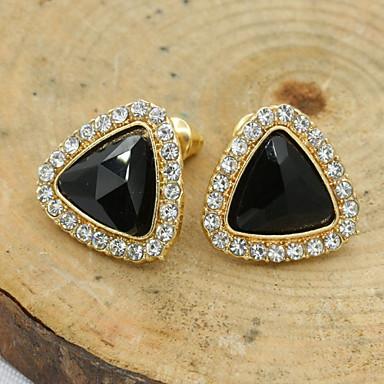 Women's Stud Earrings Crystal Fashion European Rhinestone Gold Plated 18K gold Imitation Diamond Austria Crystal Jewelry