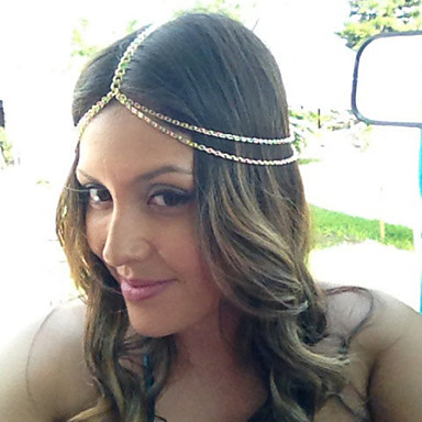 Alloy Headwear Head Chain with Floral 1pc Special Occasion Casual Outdoor Headpiece