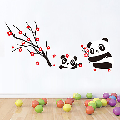 Decorative Wall Stickers - Plane Wall Stickers Animals / Romance / Florals Living Room / Bedroom / Bathroom