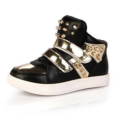 Tyttöjen Poikien kengät Nahka Kevät Syksy Comfort Lenkkitossut Niiteillä Tarranauhalla varten Kausaliteetti Musta Valkoinen Punainen