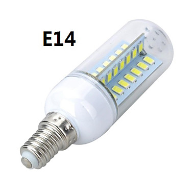 E14 E26/E27 LED Corn Lights T 56 LEDs SMD 5730 Warm White Cold White 800-900lm 3000-3500K AC 220-240V