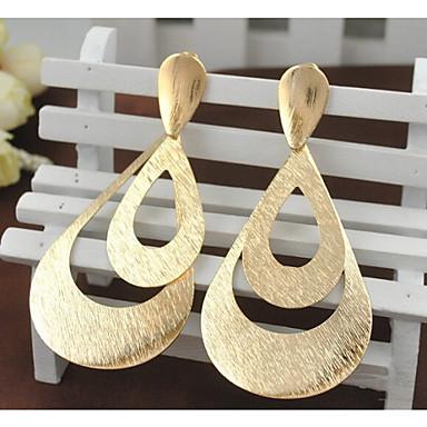 Damen Tropfen-Ohrringe - vergoldet Modisch, Erklärung Gold / Farbbildschirm Für