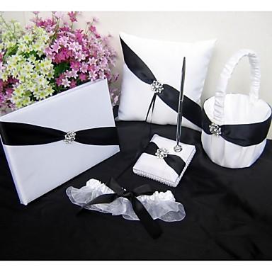 Asian Theme Classic Theme With Rhinestones Ribbons Satin Wedding Ceremony