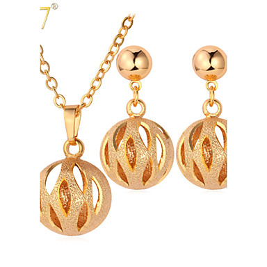 Women's Gold Jewelry Set 1 Necklace 1 Pair of Earrings - Cute Style For Wedding Party Daily