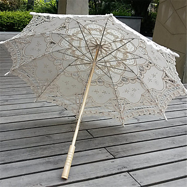 Posta Kolu Dantel Düğün Günlük Maskeli Balo Kumsal Şemsiye Şemsiyeler 30.7