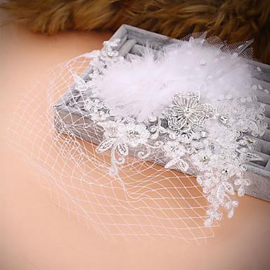 Kobiety Akrylowy Winieta-Ślub Piękny Kwiaty Welony Birdcage 1 sztuka