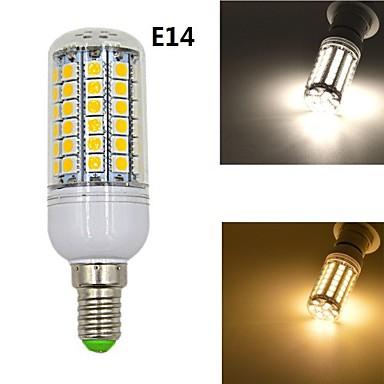 7W E14 LED Λάμπες Καλαμπόκι 69 SMD 5050 1020 lm Θερμό Λευκό / Φυσικό Λευκό Διακοσμητικό AC 220-240 V 1 τμχ