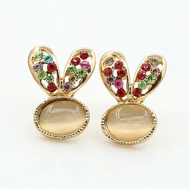 Damskie Kolczyki na sztyft Kryształ Modny Europejski Kryształ górski Pozłacane Imitacja diamentu Kryształ austriacki 18K złoty Biżuteria