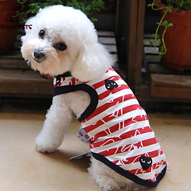 Kissa Lemmikit Koira T-paita Koiran vaatteet Hengitettävyys Erikoinen Tyylikäs Abstrakti Logo Cosplay Muoti Häät Raita Rakkaus Punainen