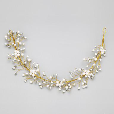 taklit inci yapay elmas alaşımlı baş bandı başlığı zarif stili