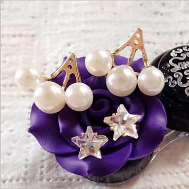 Boucles d'oreille goujon Perle Imitation de perle Imitation de diamant Alliage Mode Forme d'Etoile Or Argent Bijoux 2pcs
