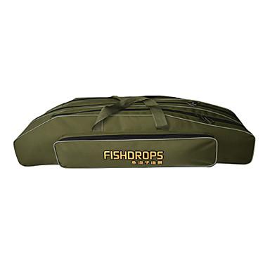 Fishdrops Fishing Bag, 31.6L Large Capacity Water Proof Navy Green Canvas Bag 80cm* 22cm* 18cm,Three Layers
