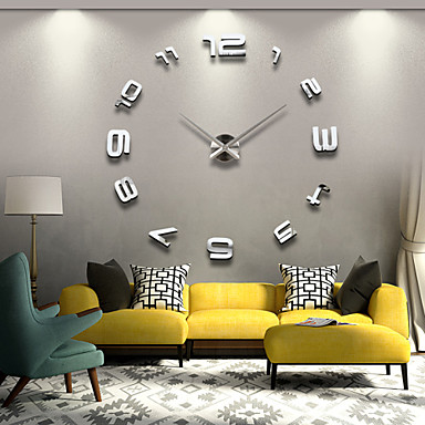 Casual Modern/Contemporary Office/Business Stainless Steel Acrylic Metal Round Novelty Indoor/Outdoor Indoor Outdoor,AA Wall Clock