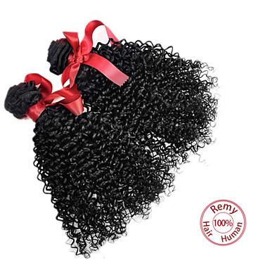 Az emberi haj sző Perui haj Kinky Curly 12 hónap haj sző