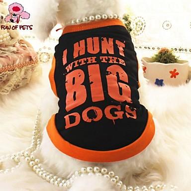 Kedi Köpek Tişört Köpek Giyimi Cosplay Düğün Çizgi Harf & Sayı Siyah Kostüm Evcil hayvanlar için