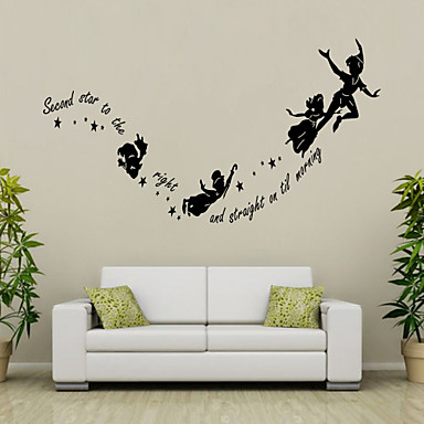 Menschen Romantik Mode Formen Worte & Zitate Cartoon Design Wand-Sticker Worte & Zitate Wandaufkleber Dekorative Wand Sticker, Vinyl Haus