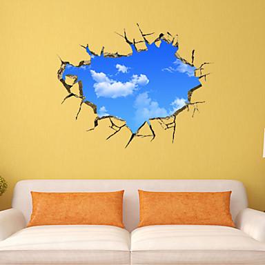 Dekoracyjne naklejki ścienne - Naklejki ścienne 3D Krajobraz / Romans / Moda Living Room / Sypialnia / Łazienka