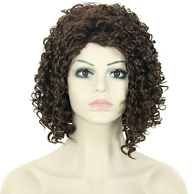 Fashion Women Wig Short Kinky Curly Synthetic African American Wig
