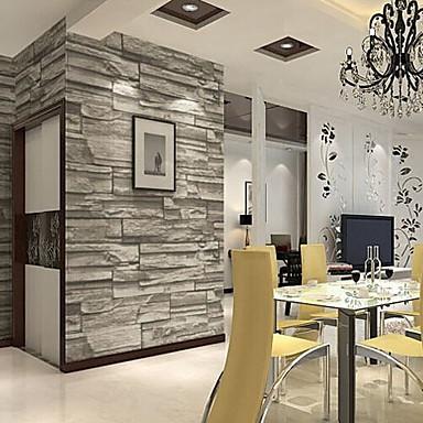 Art Deco Tiili Kodinsisustus Nykyaikainen Seinäpinnat, PVC/Vinyl materiaali liima tarvitaan tapetti, huoneen Tapetit