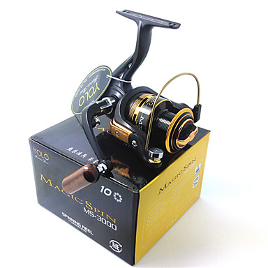 Fishing Reel Spinning Reels 5.1:1 Gear Ratio+10 Ball Bearings Exchangable Bait Casting Ice Fishing Spinning Freshwater Fishing Other