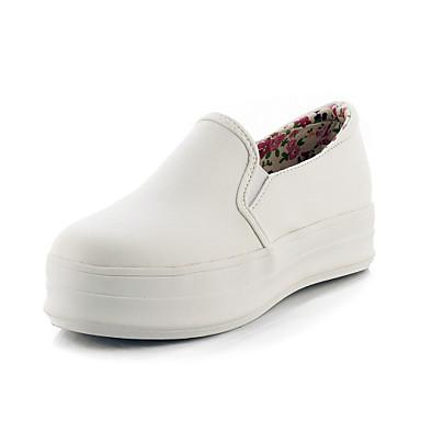 Черный / Белый - Женская обувь - Для праздника - Дерматин - На платформе - На платформе / С круглым носком - Лоферы