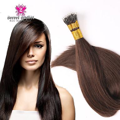 Mikrorengas-hiustenpidennykset Hiukset Extensions Aitoa hiusta Hiustenpidennys