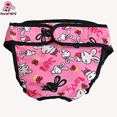 Kissa Koira Housut Koiran vaatteet Rento/arki Piirretty Musta Punainen Sininen Pinkki Naamiointiväri Asu Lemmikit