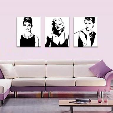 Mennesker Romantik fritid Moderne Pop Kunst Tre Paneler Lodrett Trykk